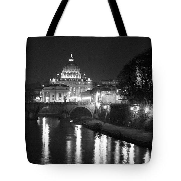 St. Peters At Night Tote Bag
