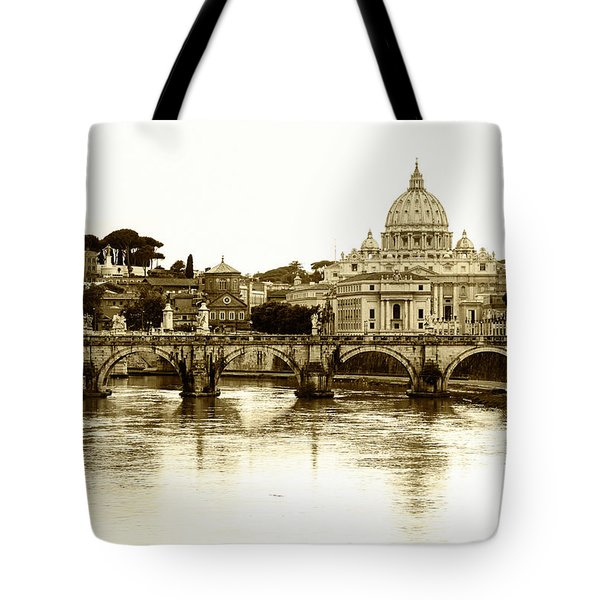 Tote Bag featuring the photograph St. Peters Basilica by Mircea Costina Photography