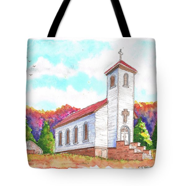 St. Peter's Catholic Church, Fayette, Mi Tote Bag