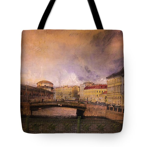 Tote Bag featuring the photograph St Petersburg Canal by Jeff Burgess