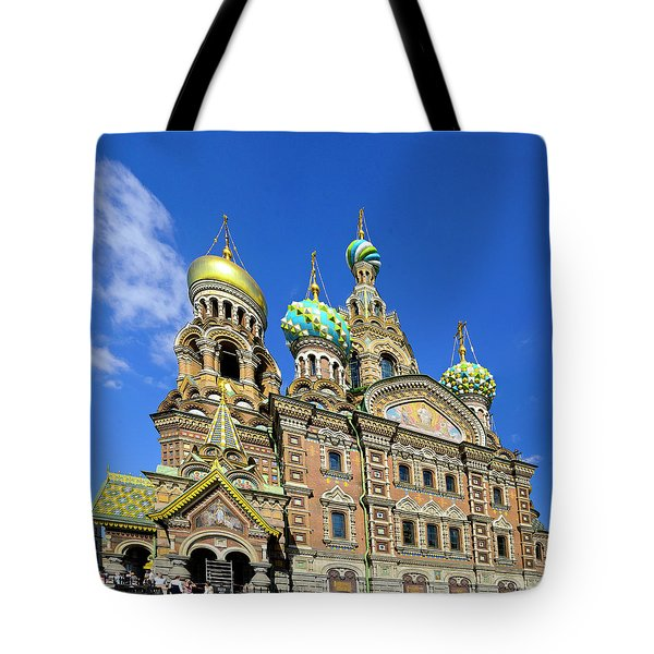 St. Petersburg Church Of The Spilt Blood Tote Bag