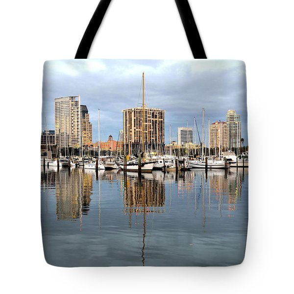 St Petersburg Marina Tote Bag