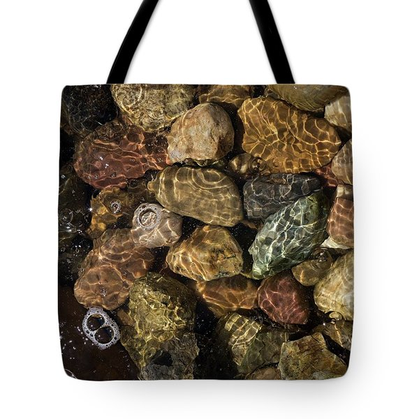 Tote Bag featuring the photograph Pete's River Rocks by Dutch Bieber