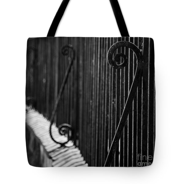 St. Philip's Episcopal Church Cemetery Iron Fence Tote Bag