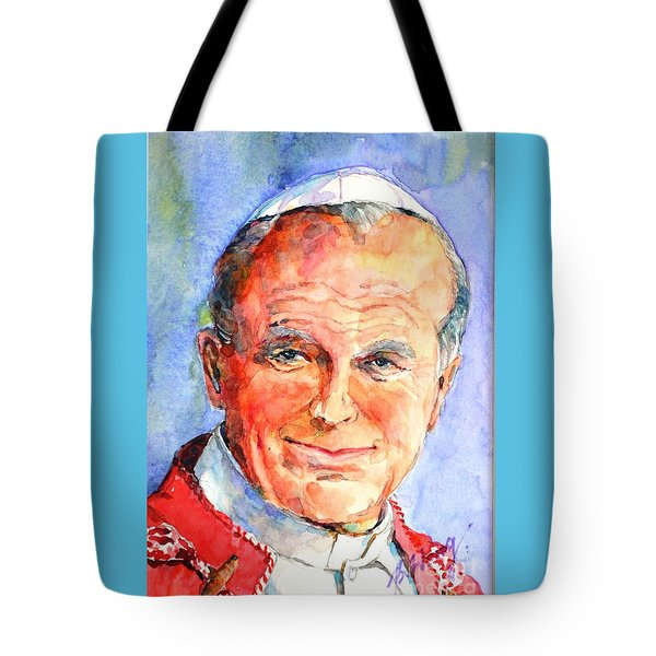 St. Pope Paul John II Tote Bag by Betty M M Wong