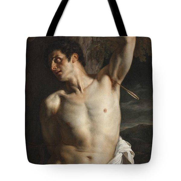 St. Sebastian Tote Bag by Hippolyte Paul Delaroche