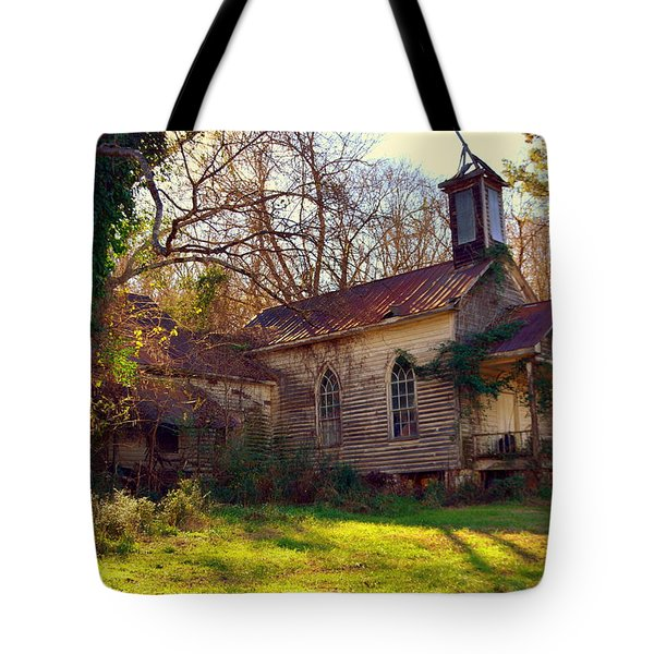 Tote Bag featuring the photograph St Simon Church Peak Sc by Lisa Wooten