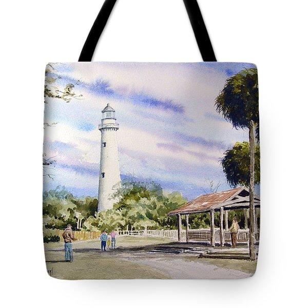 St. Simons Island Lighthouse Tote Bag