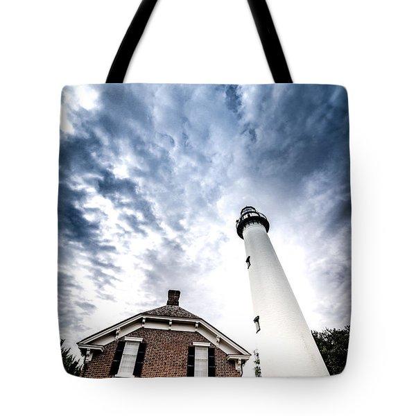 St Simons Lighthouse Tote Bag