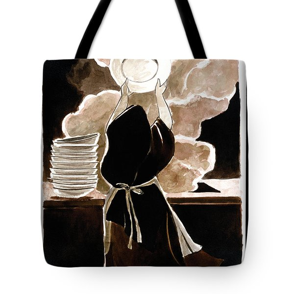 St. Therese Doing The Dishes - Mmdtd Tote Bag