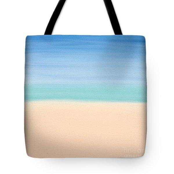 St Thomas #4 Seascape Landscape Original Fine Art Acrylic On Canvas Tote Bag