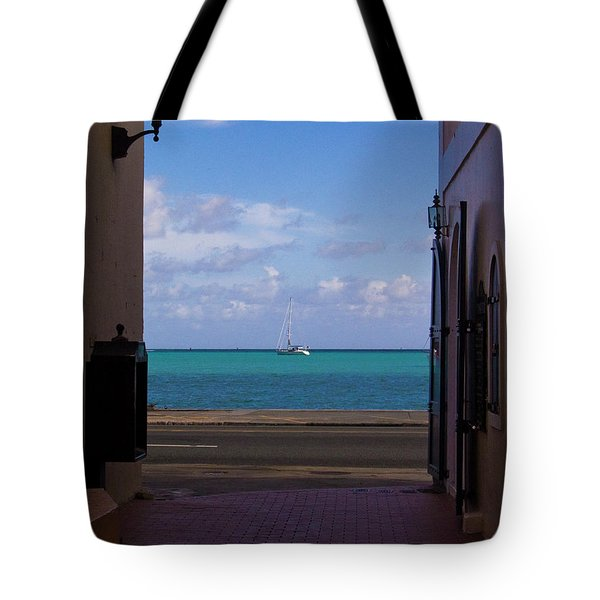 St. Thomas Alley 1 Tote Bag by Tim Mulina