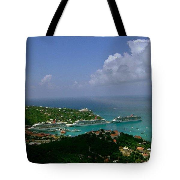 St. Thomas  Harbor Tote Bag