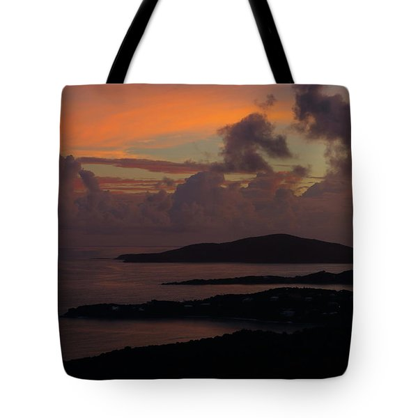 Tote Bag featuring the photograph St Thomas Sunset At The U.s. Virgin Islands by Jetson Nguyen