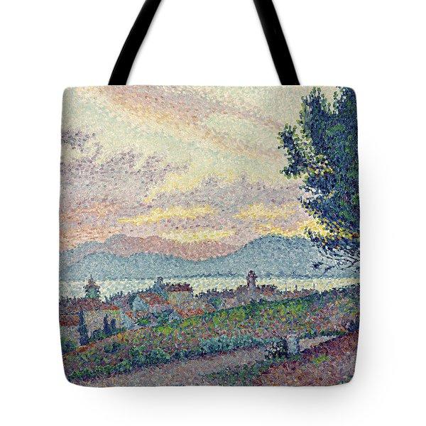 St Tropez Pinewood Tote Bag by Paul Signac