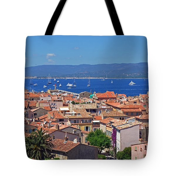 St-tropez Skyline Tote Bag