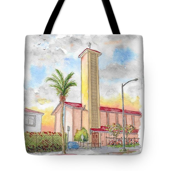 St. Victor's Catholic Church, West Hollywood, Ca Tote Bag