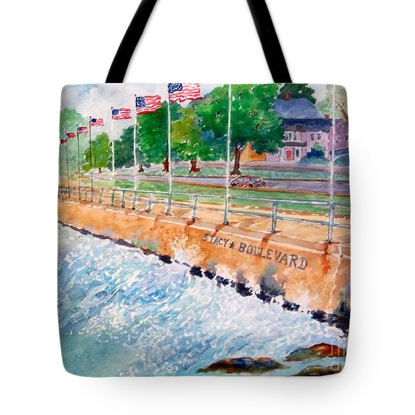 Stacey Boulevard,gloucester, Ma Tote Bag by Kathryn G Roberts