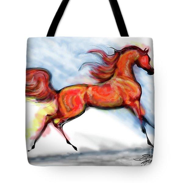 Staceys Arabian Horse Tote Bag