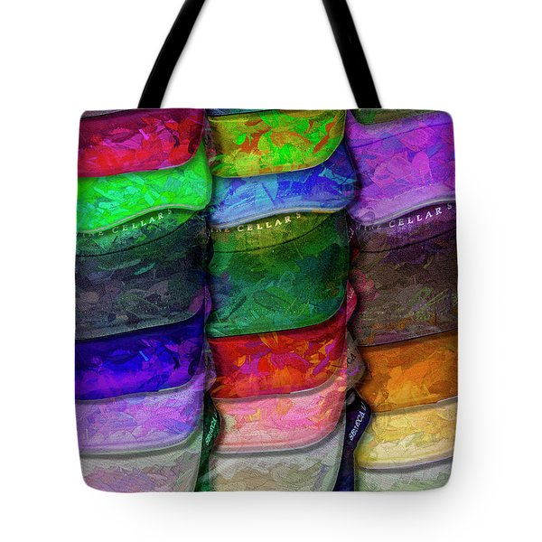 Tote Bag featuring the photograph Stack Of Hats by Paul Wear