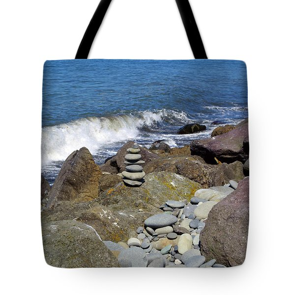 Tote Bag featuring the photograph Stacked Against The Waves by Tikvah's Hope