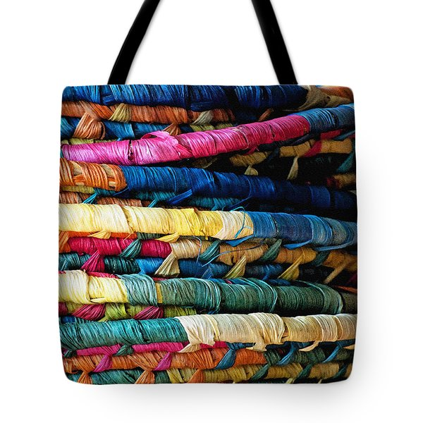 Stacked Baskets Tote Bag by Gwyn Newcombe