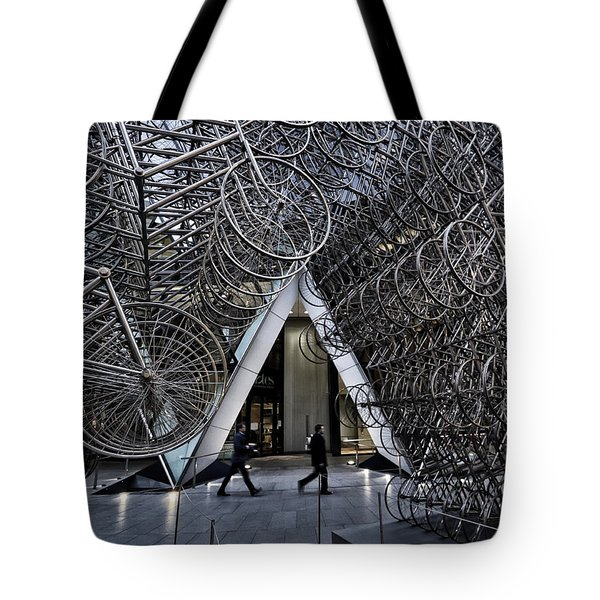 Stacked Bicycles  Tote Bag by Shirley Mitchell