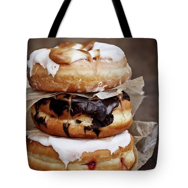 Stacked Donuts Tote Bag by Stephanie Frey
