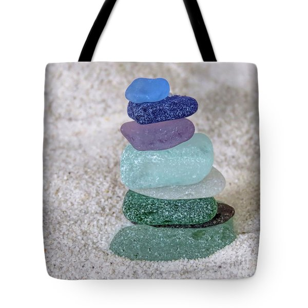 Stacked High  Tote Bag by Janice Drew