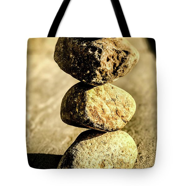 Tote Bag featuring the photograph Stacked Rocks by Onyonet  Photo Studios