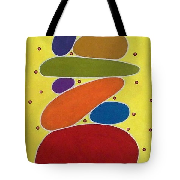 Stacked Shapes Abstract  Tote Bag by Karla Gerard