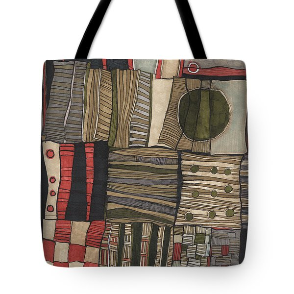 Stacked Shapes Tote Bag