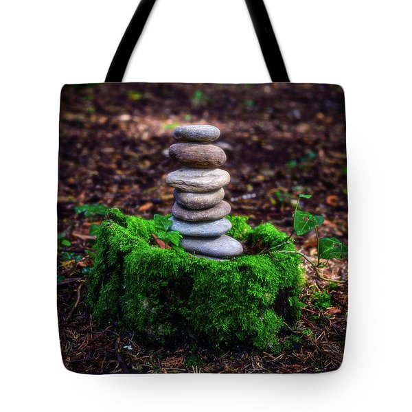 Tote Bag featuring the photograph Stacked Stones And Fairy Tales Iv by Marco Oliveira
