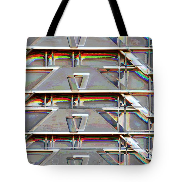 Stacked Storage Crates Abstract Tote Bag