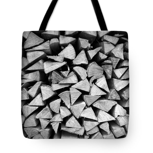 Stacked Wood Tote Bag by Colleen Williams