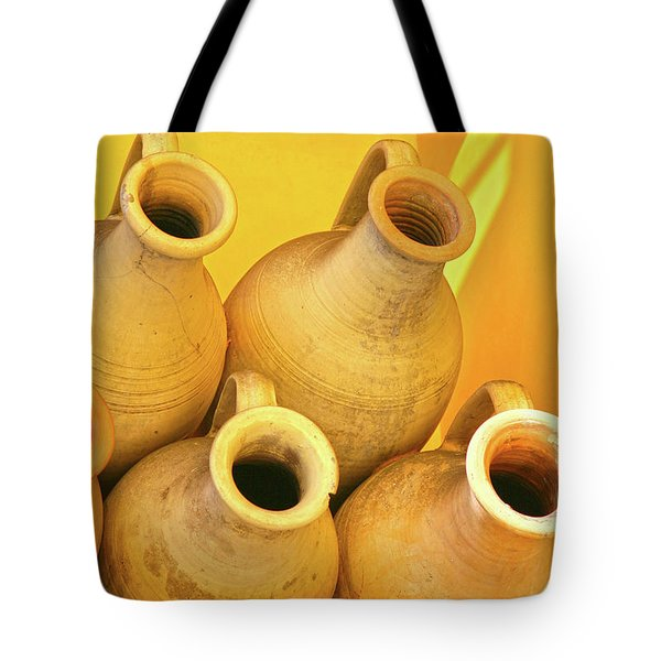 Stacked Yellow Jars Tote Bag