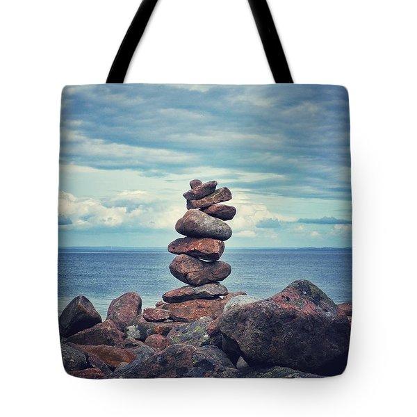 Stacked Zen Tote Bag