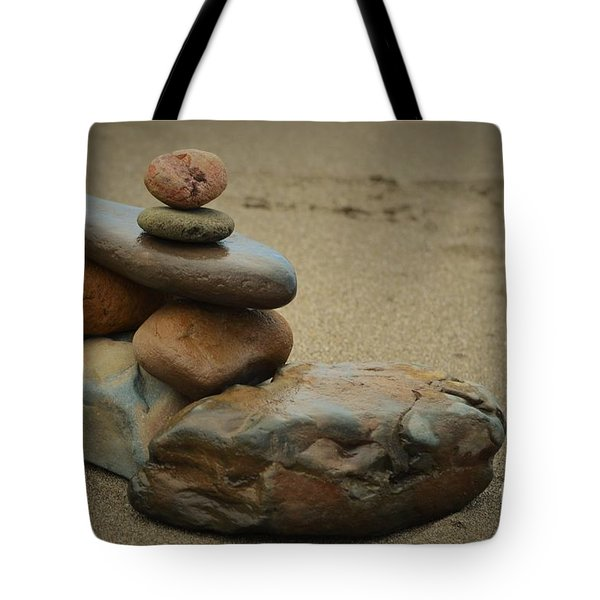 Stacking Stones Tote Bag by Pamela Blizzard