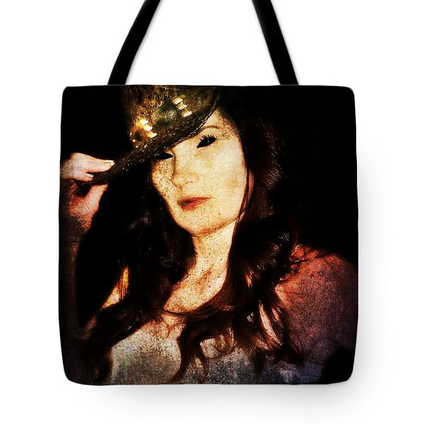 Tote Bag featuring the digital art Stacy 1 by Mark Baranowski