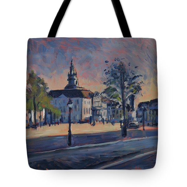 Tote Bag featuring the painting Stadhuis Maastricht by Nop Briex