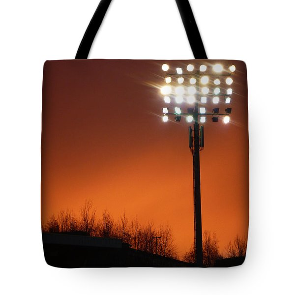 Stadium Lights Tote Bag