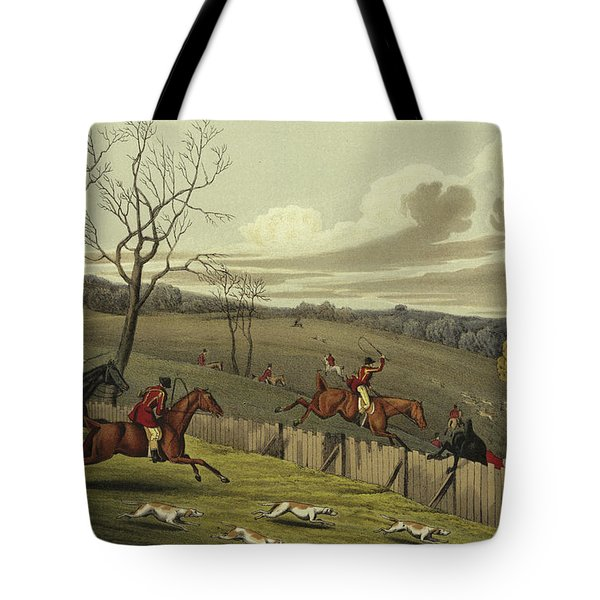 Stag Hunting Tote Bag