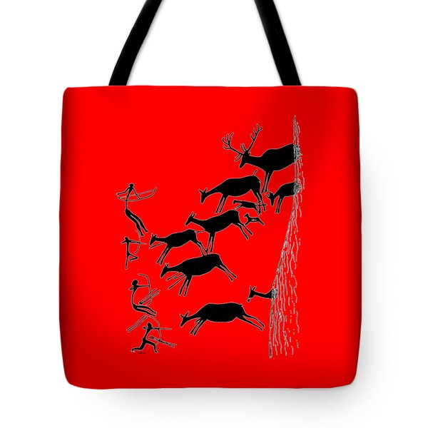 Tote Bag featuring the digital art Stag Hunting In Valltoria by Asok Mukhopadhyay