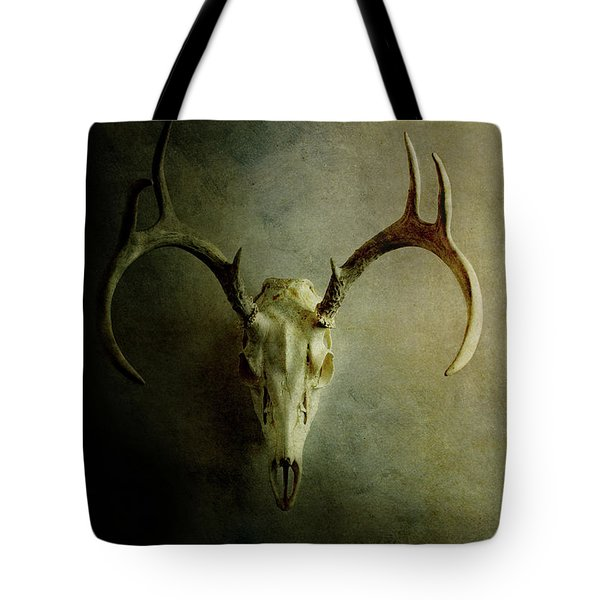 Tote Bag featuring the photograph Stag Skull by Stephanie Frey