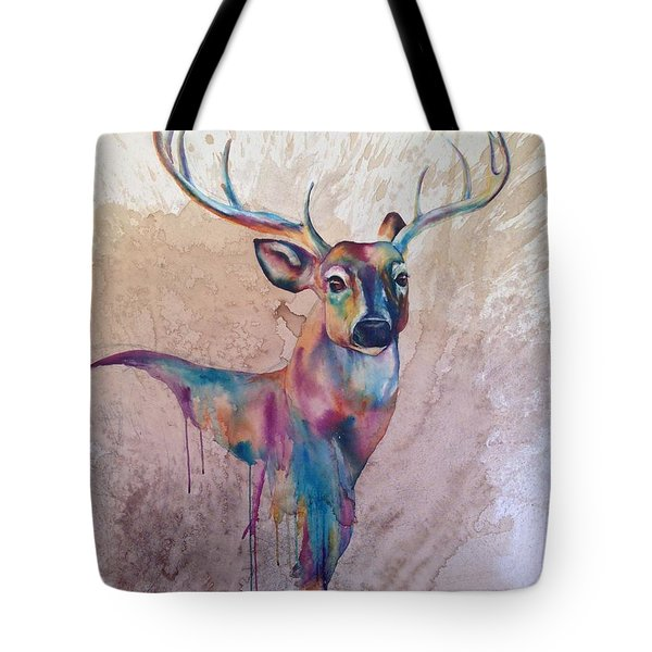 Stag Spirit Tote Bag by Christy  Freeman