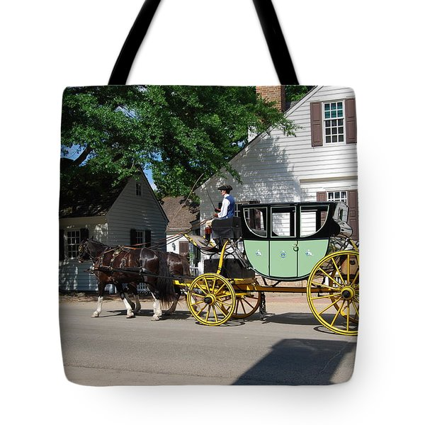Tote Bag featuring the photograph Stage Coach by Eric Liller