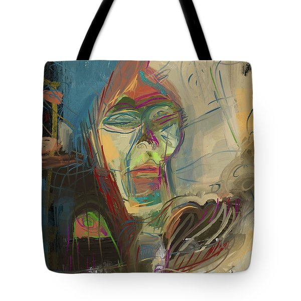 Stage Fright Tote Bag by Russell Pierce