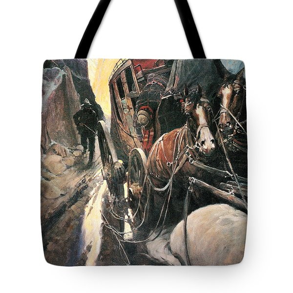 Stagecoach Robbers Tote Bag by Granger