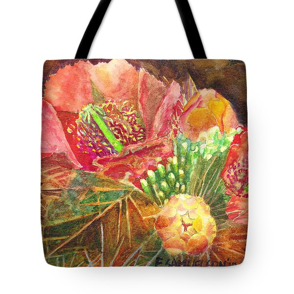Tote Bag featuring the painting Staghorn In Bloom by Eric Samuelson
