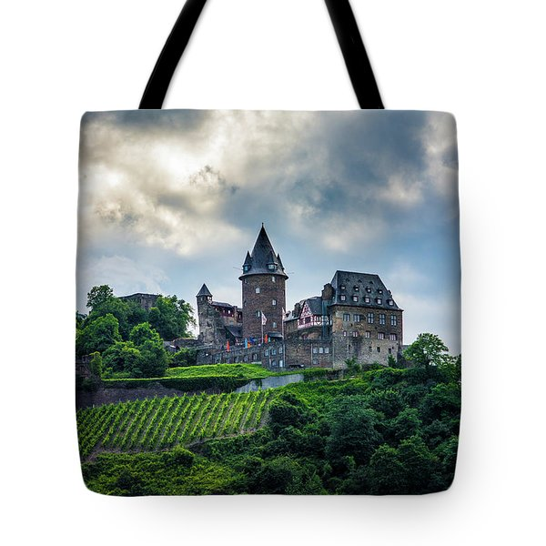 Tote Bag featuring the photograph Stahleck Castle by David Morefield